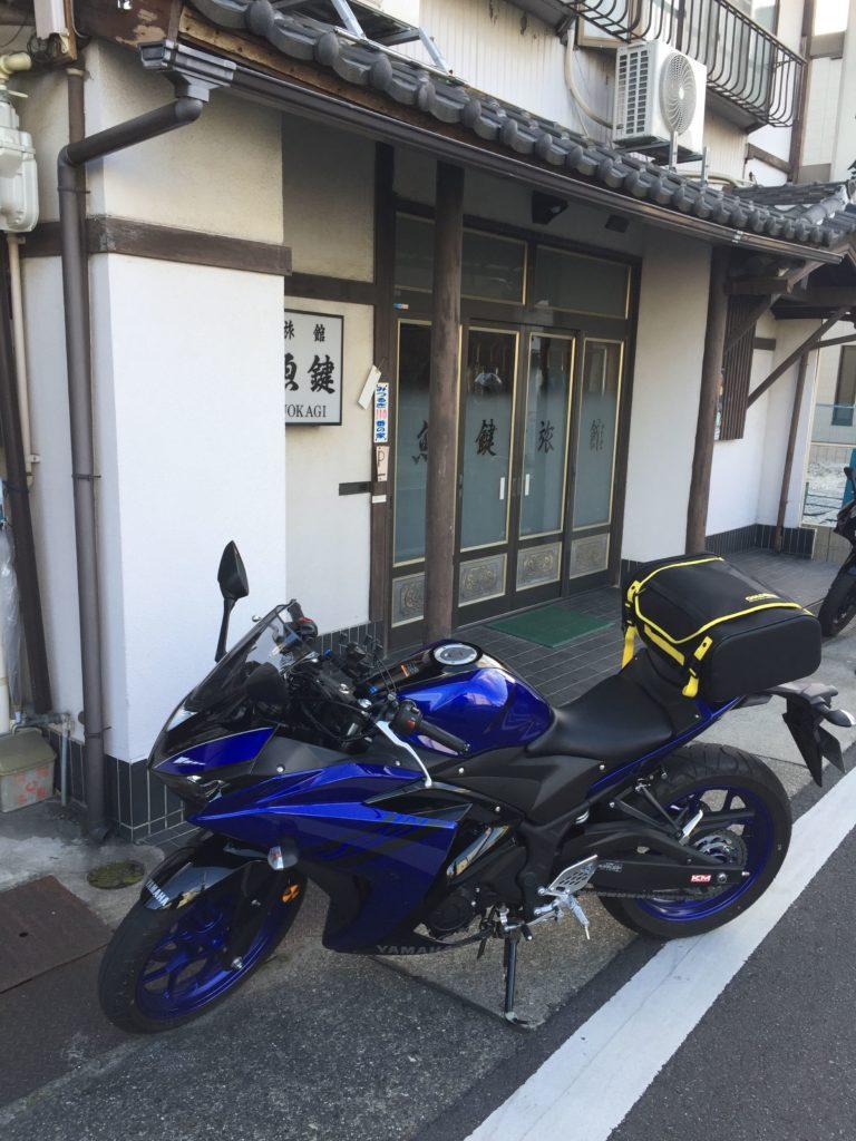 旅館とバイク