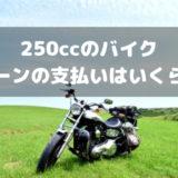 250ccのバイクローンはいくら?