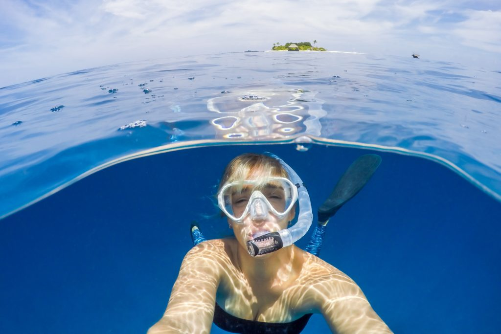 Goproで海中の自分を撮影
