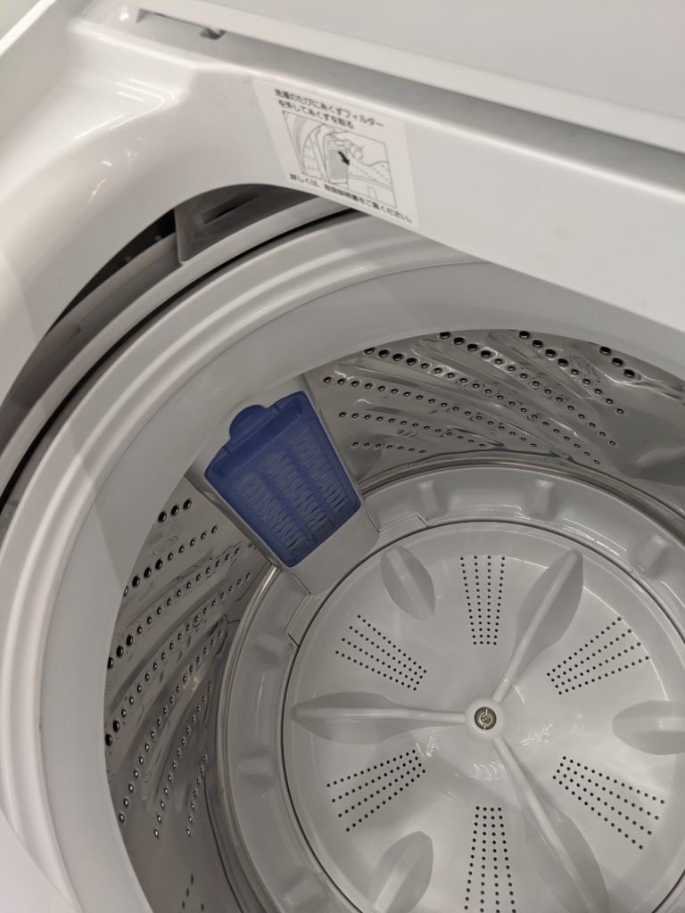 Panasonic製洗濯機NA-F60B13の内部