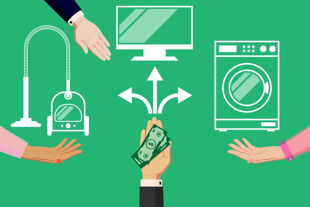 家電へのお金の分配