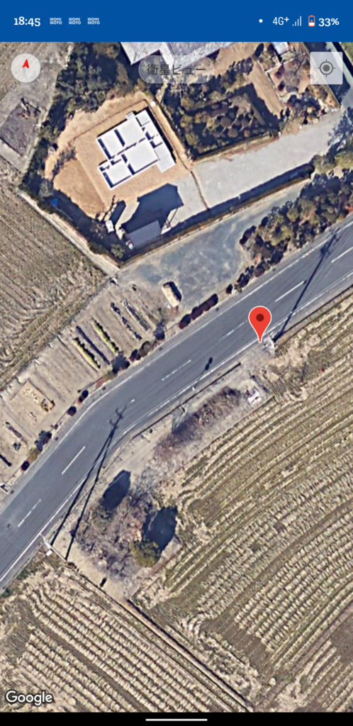 Monimotoアプリの地図画面